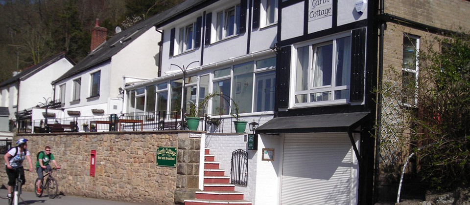 image showing The front of Garth Cottage B&B Overlooks the river Wye