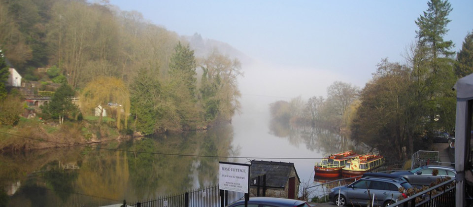 image showing Morning mist on the river wye